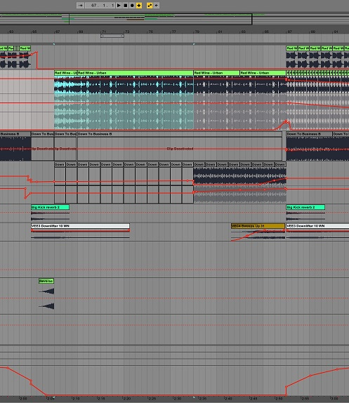 mashup arrangement, ableton live